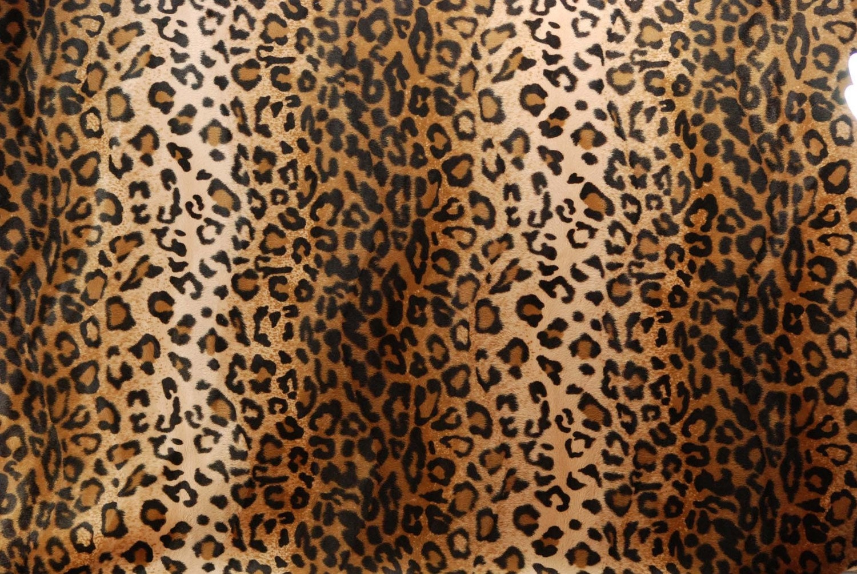 Leopard Print Faux Fur Fabric Excellent Quality 2 By Hansaware