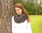 Infinity Scarf Cowl Scarf in Charcoal