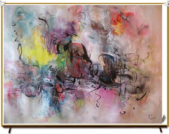 painting Acrylic Abstract art Painting abstract landscape contemporary colorful modern art 18x24