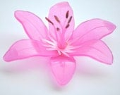 RESERVED...7 Handcrafted Hand Molded Tiger Lily Wedding Shower Soap Favors