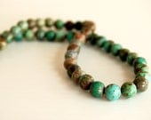 African Turquoise 6 - 7 mm round beads strand