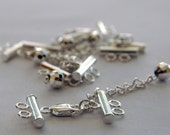 Weddings Sterling Silver Clasp with extension / chain