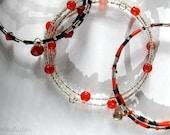 Vegas Casino Red and Black Beaded Bracelets