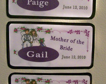 Personalized Wedding Magnet - Bridesmaids, Mother of the Bride, Mother of the Groom