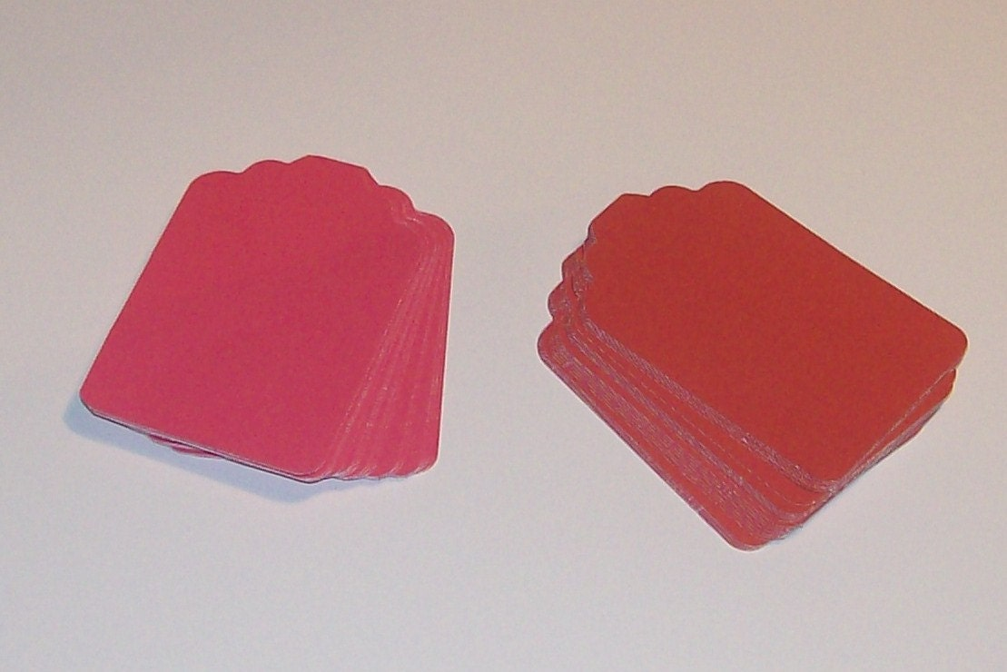 Shades of red tags for labeling scrapbooking gift for Price tags for craft shows