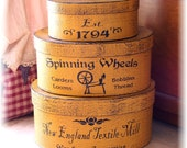 New England Textile Mill shaker style primitive boxes