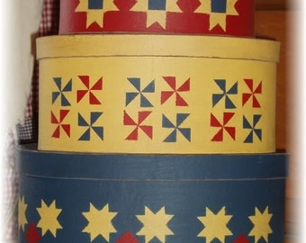 Quilt pattern nesting shaker style boxes