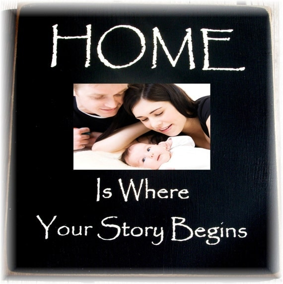 HOME is where your story begins primitive by woodsignsbypatti