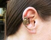 Dragonfly Ear Cuff Dragonfly Earcuff Brass right ear