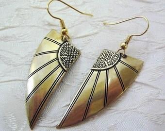 Art Deco Earrings Wing Earrings Art Deco Jewelry