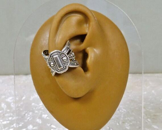Studded Ear Cuff  Silver Unisex Earcuff