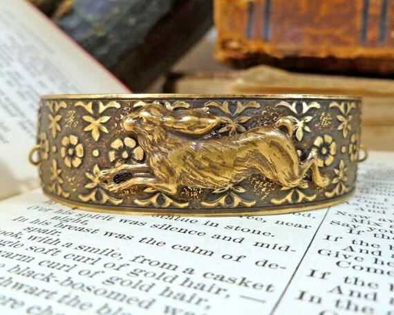 Running Rabbit Aged Brass Bracelet