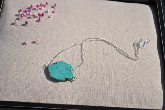 Turquoise Necklace Pendant - The Dallas