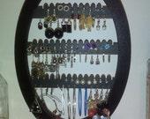 Jewelry  Holder Earring  jewellery organizer   Rack jewelry tree Oval with base BLACK