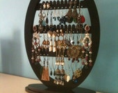 jewelry stand ,Earring holder ,Jewelry Rack,  jewellery storage display  organizer /   Oval Shape with base