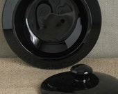 Lidded Box - Black Glass