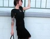 Fabulous Black Fringed Dress