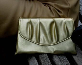 Soft Gold Envelope 1960s Evening Bag