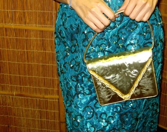 Gold with Rhinestones Evening Bag