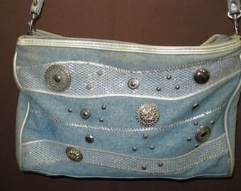 80s Acid Washed Denim Shoulder Bag