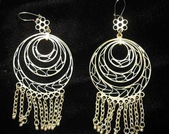 Gypsy Silver Dangly Earrings