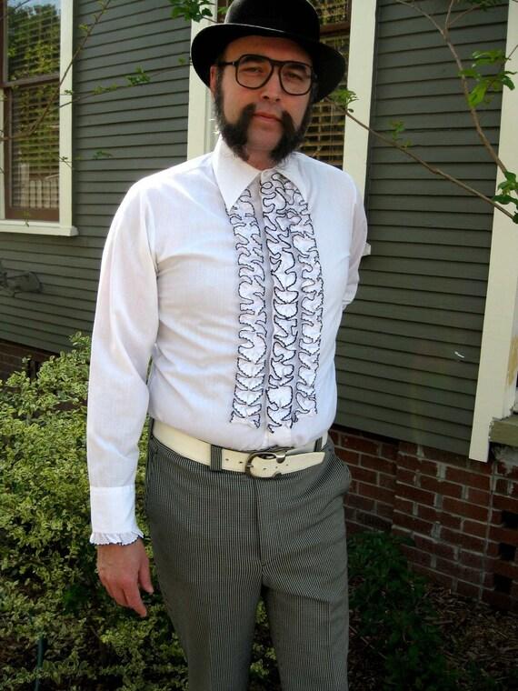 Ruffled Tuxedo Shirt uk White Ruffled Tuxedo Shirt