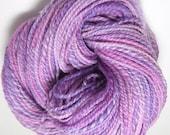 Hand Spun Corriedale Wool - Pink Purple and Violet knitting yarn