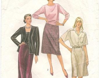 1980s Sewing Pattern - Vintage Sewing Pattern - 80s Skirt Pattern - Simplicity 6622 - X Small Skirt Pattern - Retro Skirt Pattern