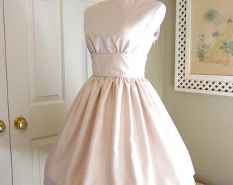 1960s Style Dress - Audrey Hepburn Dress - Vintage Style Wedding Dress - Bridesmaids - Audrey Hepburn Theme Bridal Shower Dress - Tenderlane