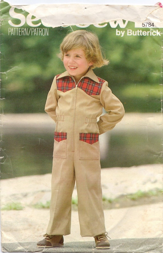 Redserved for Helen Vintage Sewing Pattern- See & Sew Butterick 5784- Children's Jumpsuit