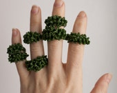 SALE - Glass Cluster Ring - Moss