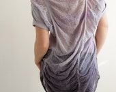 SALE - Shredded T-Shirt in Lilac Ombre - One of A Kind - Size Large