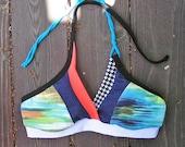 Sea Escape Quilted Retro Swim/Workout Sports Bra