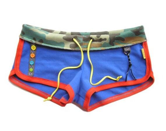 Retro ButtonTerry Dolphin Shorts