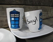 Sexy TARDIS Espresso Cups - Set of Two