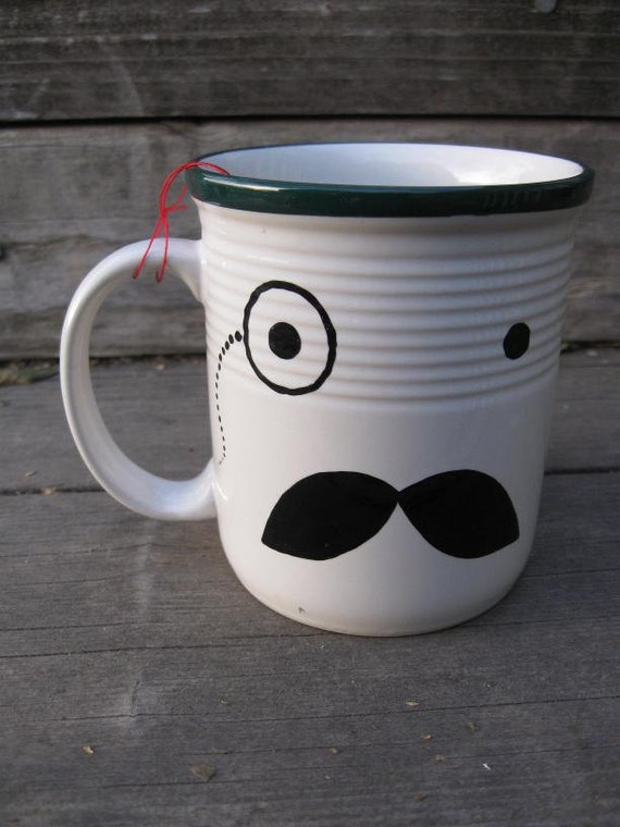 Reserved - Major Teacup - Mr. Monocle. Mr. Walrus Mustache