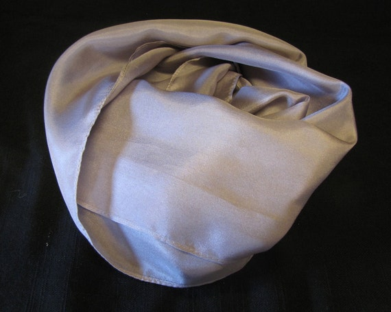 Silver Gray Habotai Silk Scarf- 8 x 54