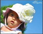 Light Pink Interchangeable Sunhat with Real Feel White Peony Free Shipping On All Additional Items