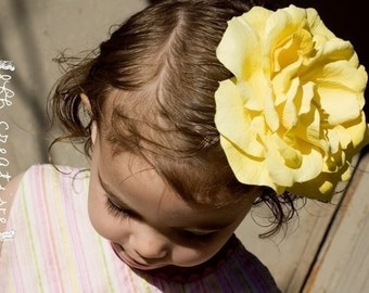 Real Feel Large Yellow Rose Hair Clip Easter FREE SHIPPING ON ADDITIONAL ITEMS