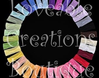 Set of 10 Interchangeable Nylon Headband of Choice 39 to Choose From Perfect for Flowers and Bows Free Shipping On All Additional Items