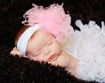You Pick Curly Ostrich Puff with Headband Free Shipping On All Additional Items