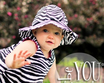 Zebra Print Sun Hat Baby and Girl Sizes Free Shipping On All Additional Items