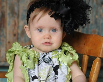 Black Over The Top Bow with Free Shipping On All Addional Items