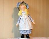 Holly Hobbie Doll, Light Blue Dress and Bonnet