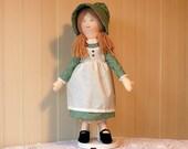 Holly Hobbie, Green Dress and Bonnet