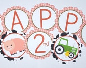 Farm Birthday Party Banner by The Birthday House