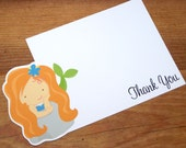 Mermaid Party - Set of 8 Mermaid I Thank You Cards by The Birthday House