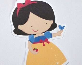 Princess Party - Set of 10 Snow White Favor Tags by The Birthday House