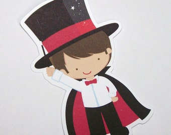 Magic Show Party - Set of 10 Magician Favor Tags by The Birthday House