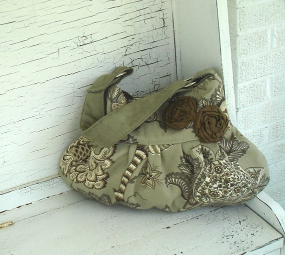 Sage Woodland Slouch Purse